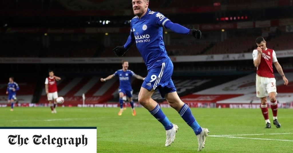 Jamie Vardy comes off the bench to win tight game for Leicester against Arsenal
