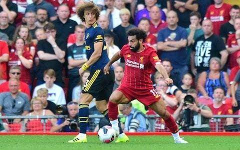 Arsenal may have restructured and invested, but Liverpool rout proves Mohamed Salah against David Luiz remains a no-contest