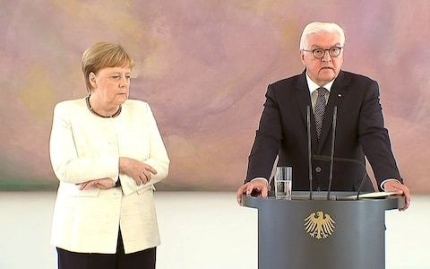 Concern over Angela Merkel's health as German chancellor seen shaking for second time this month