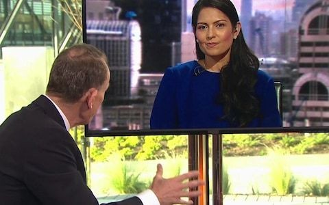BBC apologises over Andrew Marr accusing Priti Patel of laughing at him during Brexit interview