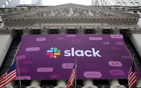 Slack shares jump 60pc to value office chat service at $25bn