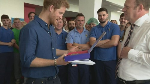 Prince Harry gets his own 'Harry Mix' at Haribo factory in Castleford