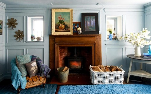 Room to bloom: Nikki Tibbles' country house is bursting with pattern, flowers and five dogs...