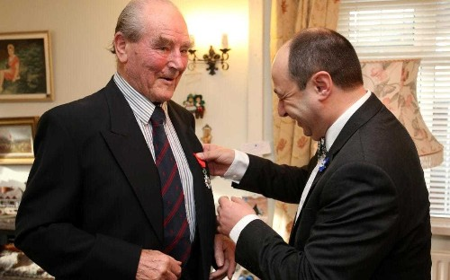 D-Day hero is youngest living WW2 veteran awarded Légion d'Honneur as he lied about age when he signed up