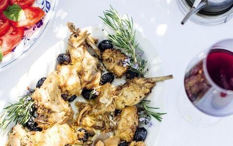 Rabbit in white wine (coniglio alla vernaccia) recipe
