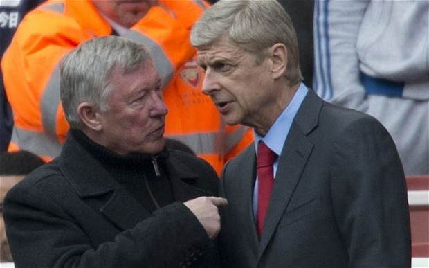 Arsene Wenger says he knew Sir Alex Ferguson's reign at Old Trafford was ending
