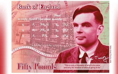 Alan Turing to be face of new £50 note in first for LGBT community