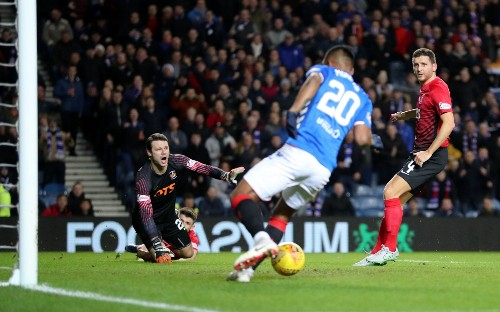 Alfredo Morelos scores four as Rangers dismantle 10-man Kilmarnock to reach Scottish Cup quarter-finals