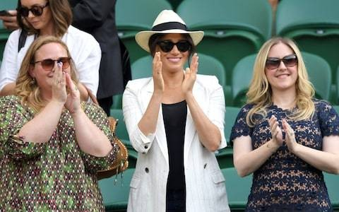 Wimbledon fans ordered not to take pictures of the Duchess of Sussex by her Royal protection officers