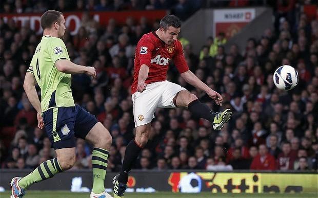Robin van Persie: wonder volley against Aston Villa the 'best' goal of my Manchester United career