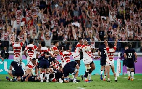 Japan's victory over Scotland was brilliant, breathless and beautiful - it flushed away the bad vibes of the putative courtroom drama