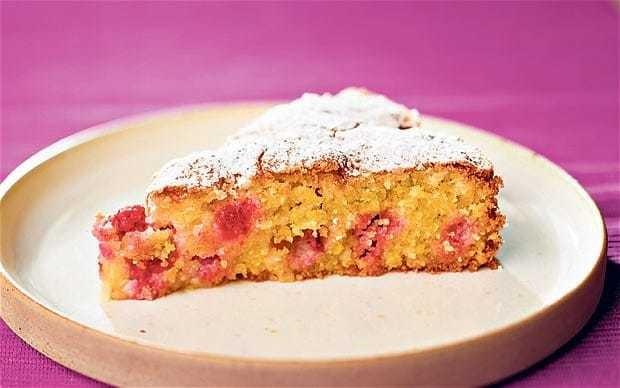 Gluten-free raspberry and polenta cake recipe