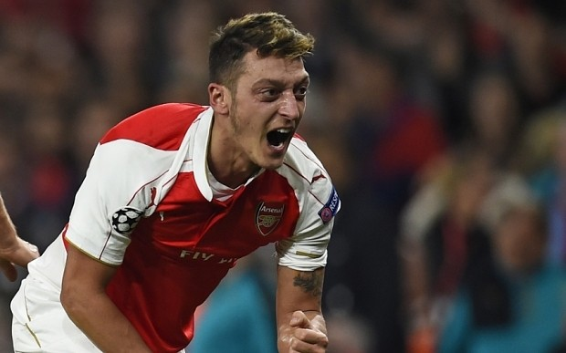 Mesut Ozil proving he is Arsenal's man for the big games as Europe's finest creator
