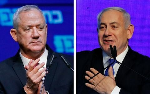 Israel election: Exit polls suggest Netanyahu is in trouble as Gantz calls for broad unity government