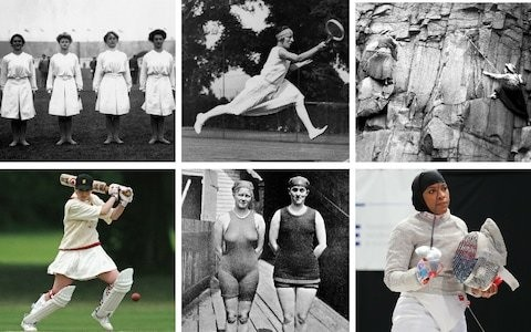 From bloomers to see-through skin suits: How women's sports kits have evolved since 1875
