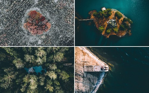 Sweden by drone: Stunning landscapes photographed from above