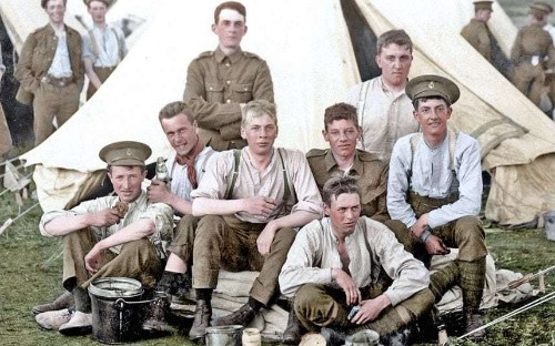 WWI photos colourised to mark the 100th anniversary of the start of the conflict - Telegraph