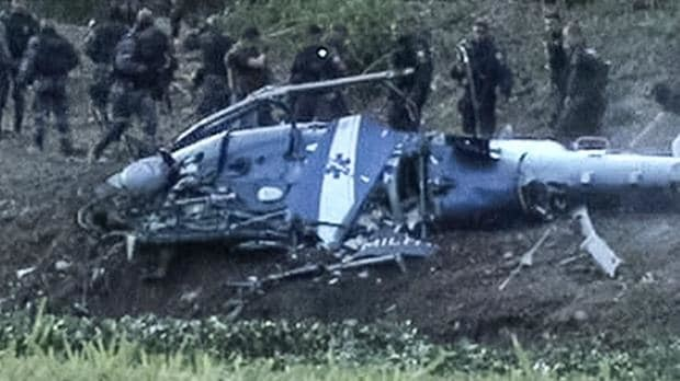Police helicopter crashes in Brazil, killing four, after Rio shootout