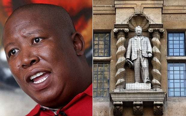 South Africa's Julius Malema attacks decision not to remove Oriel's Cecil Rhodes' statue