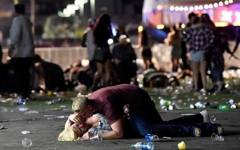 Mystery hero who was seen saving lives in Las Vegas attack identified as young US soldier who ran back into danger zone