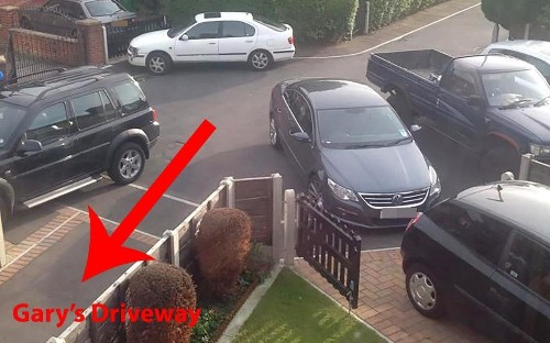 Man documents three-year parking war with pictures showing his driveway blocked almost every day