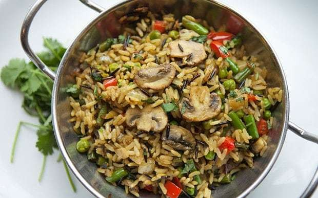 Mushroom and pepper biryani recipe