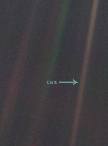 An Early Draft of Carl Sagan's Famous 'Pale Blue Dot' Quote