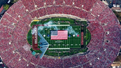 How to Take a Picture of a Stealth Bomber Over the Rose Bowl
