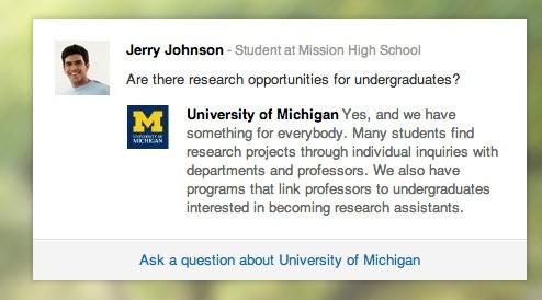 Where Is a College Like a Company? LinkedIn