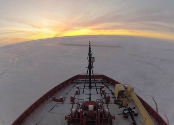 What It's Like to Live on a Ship Sailing Through the Antarctic Ice