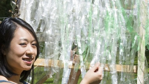 A Second Life for Wasted Soda Bottles: High-Tech Roofing