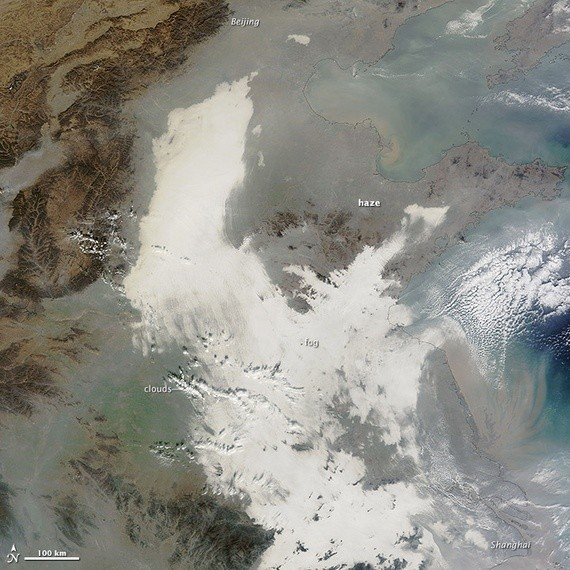China's Air Pollution Is So Awful You Can See It From Space