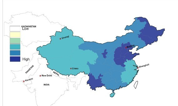 The Geographic Distribution of China's Last Names, in Maps