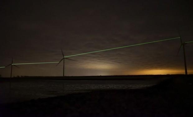 Dutch Windmills Host a Mesmerizing Laser Show