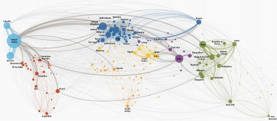 The World, Mapped by Phone Calls