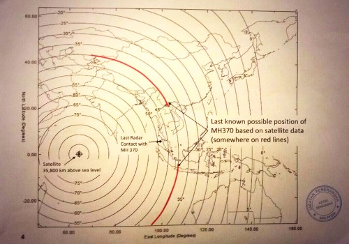 This Map Outlines the Last Known Position of the Missing Malaysia Airlines Flight