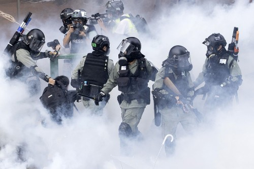 Riot Police Lay Siege to Hong Kong University Occupied by Protesters