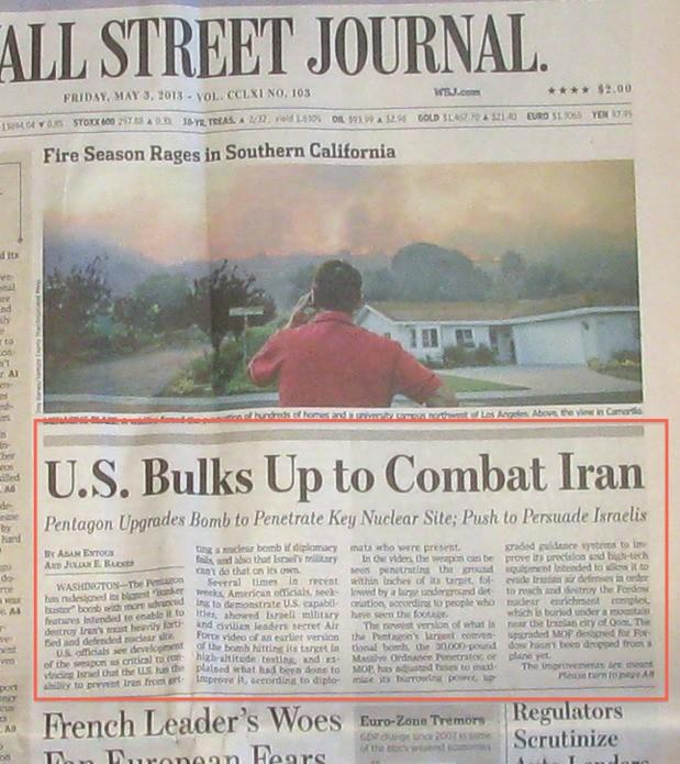 A Cloud No Bigger Than a Man's Hand: Iran Dept.