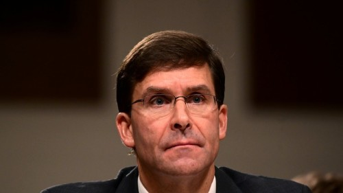 Democrats Question Mark Esper on Trump's Policies