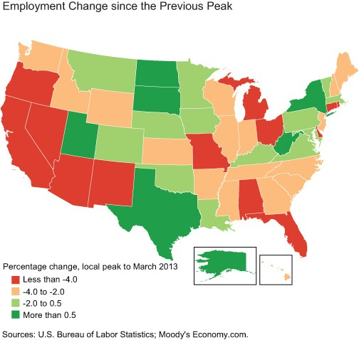 Which States Are Winning the Recovery?