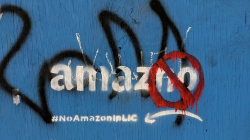 A Dispatch From the Anti-Amazon Victory Party