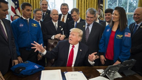Why Trump Wants to Go to the Moon So Badly