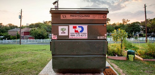 Living Simply in a Dumpster