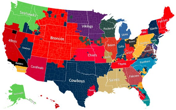 The Geography of NFL Fandom
