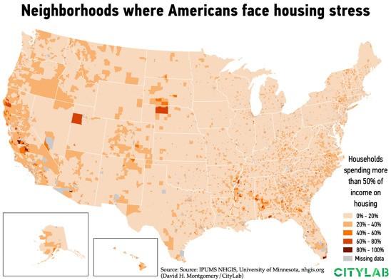 The Neighborhoods Where Housing Costs Devour Budgets
