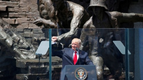 The Falsehood at the Core of Trump's Warsaw Speech