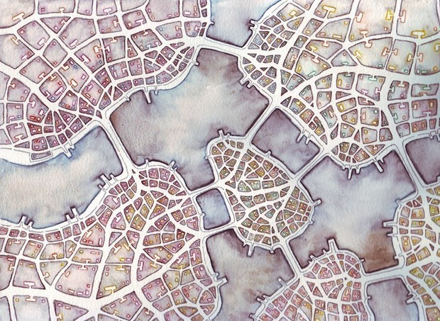 How Fractals Bring Imaginary Cities to Life