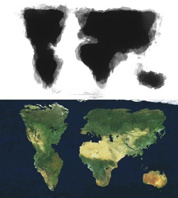 What You Get When 30 People Draw a World Map From Memory