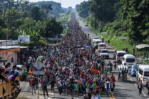 Photos of the Central American Immigrant Caravan