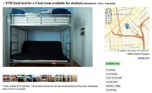 I'm Obsessed With San Francisco's Bunk-Bed Craigslist Ads
